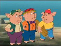 Tři malá prasátka 1999 animovaný, kreslený, pohádka, rodinný, cz dabing - YouTube