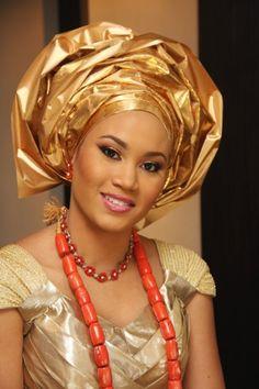 Beautiful Gele Styles For Nigerian Brides Nigerian Bride, Nigerian Weddings, Turbans, Igbo Wedding, Wedding Attire, African Fashion Dresses, Nigerian Fashion, African Hairstyles, African Beauty