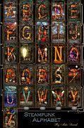 Mike Savad - Steampunk - Alphabet - Complete Alphabet