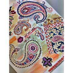 Paisley hand painting today for our upcoming trip to Indigo Paris for Premier Vision. #textile #premiervision