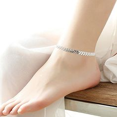 HOT! Women Gold Barefoot Ankle Chain Anklet Bracelet Foot Jewelry Sandal Beach (silver)