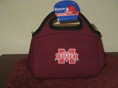 MISSISSIPPI STATE BULLDOGS NEOPRENE HANDLED KLUTCH BAG FROM KOLDER #Mississippi