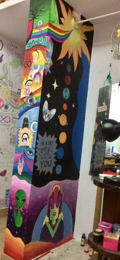 Hippy Room 748301294324214633 - Wall ideas Source by loangranier Room Ideas Bedroom, Bedroom Art, Diy Room Decor, Hippie Painting, Trippy Painting, Art Et Design, Hippy Room, Chill Room, Hippie Art