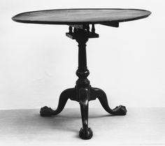 Mesa de Té redonda (1740–90) [Caoba, EE.UU, Madera, Mesa de Té]