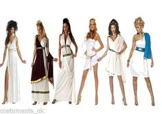 Sexy Greek Goddess Gowns Fancy Dress Costumes Roman Queen Outfit Toga Party | eBay