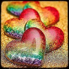 glitzer hearts