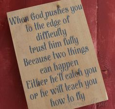 Inspirational Wood Sign - Motivational Sign- Inspirational Quote - Gift for Pastor - Home Decor - Wall Art Sign - Pastors Wife Gift