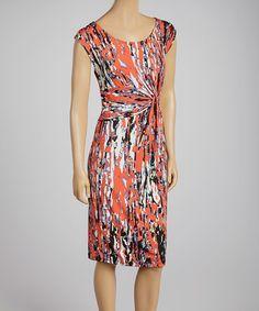 Loving this Orange Twist Sheath Dress on #zulily! #zulilyfinds
