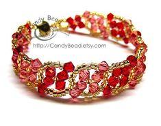Strawberry Twist Bracelet by candybead on Etsy