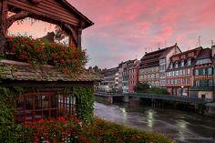Petite-France au lever du soleil.  #Strasbourg #alsace #france #voyage #travel #mathieudupuis #photo #ville #city