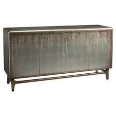 Vines Regency Hand Painted Silver Leaf Sideboard | Kathy Kuo Home