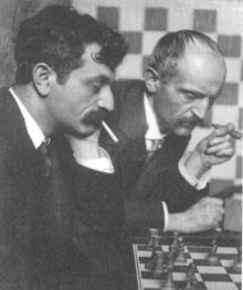 Emanuel Lasker (1868-1941): German philosopher and mathematician who held the title of the World Chess Championship for 27 years. His brother taught him how to play, and Emanuel would play chess for small stakes in the café to make a little extra money.  Pictured: Lasker and his brother, Berthold.
