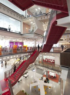 Macquarie at Ropemaker Place, London - Macquarie's Ropemaker Place was designed as a model for a new transparency in banking services revolving around an open atrium and connecting staircase.