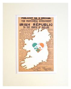 Ireland Republic Ireland Flag Irish by mIrishDublin Proclamation Day, Ireland Map, Irish Men, Flag, Orange, Handmade Gifts, Green, How To Make, Etsy