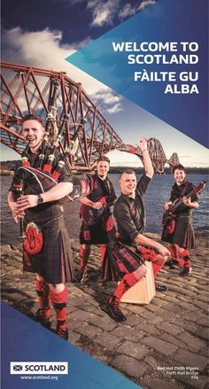Red Hot Chilli Pipers provide a welcome to Scotland #kilt #musicians #scotland #tourism