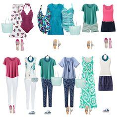 Holiday capsule wardrobe, summer capsule wardrobe,