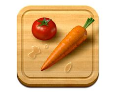 Showcase of 40 Insanely Detailed iOS Icon Designs. Veggie Meals iOS Icon by Max Rudberg Mobile App Icon, Ios App Icon, Vegetarian Recipes Easy, Veggie Recipes, Veggie Meals, Web Design, App Icon Design, Unique Apps, Icon Design