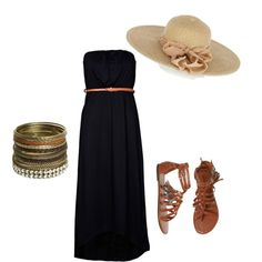 beach maxi for dinner on #polyvore