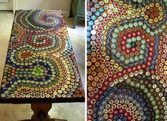 Cheap DIY Furniture Ideas | Upcycling Projects with Old Bottlecaps | DIY Coffee Table Makeover | DIY Projects and Crafts by DIY JOY