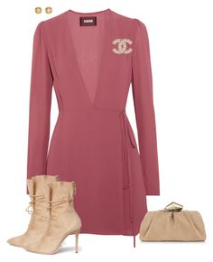 Untitled #10277 by ksims-1 on Polyvore featuring polyvore fashion style Reformation Alexander White Jimmy Choo Chanel clothing