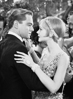 """I wish I had done everything on earth with you."" Jay Gatsby and Daisy Buchanan played by Leonardo DiCaprio and Carey Mulligan dancing in Baz Luhrmann's film The Great Gatsby"