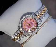 1000+ images about | Watches | on We Heart It | See more about watch, fashion and luxury Cute Jewelry, Body Jewelry, Jewelry Crafts, Jewelry Accessories, Women Jewelry, Fashion Jewelry, Ring Watch, Bling, Stylish Watches