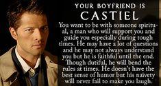Who is Your 'Supernatural' Boyfriend? - BuddyTV//I got Castiel! Woo! Can't complain
