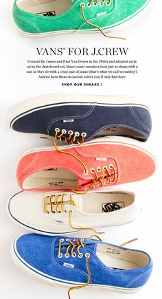 vans for j crew....might need these for the summer @Ashton Jenkins Jenkins Jenkins Jenkins Cox omg we need these!