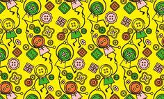 ボタンちゃん Pattern Images