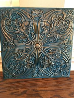 How to Paint and Distress Tin Ceiling Tiles