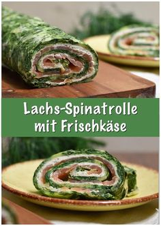 Salmon spinach roll with cream cheese - Lunch Snacks Best Pasta Bake Recipe, Baked Pasta Recipes, Baking Recipes, Salmon Recipes, Lunch Recipes, Spinach Rolls, Lunch Wraps, Party Buffet, Vegan Snacks