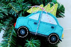 Felt Car Ornament by Erin Lincoln for Papertrey Ink (September 2016)