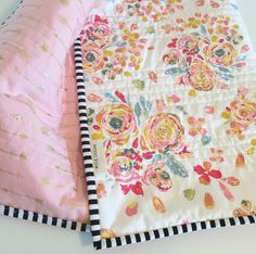Modern Wholecloth Baby Quilt-Modern Baby Quilt-Baby Quilt Blanket-Handmade Baby Quilt-Floral Baby Quilt by WildLittles on Etsy