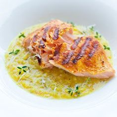 Risotto cytrynowe z łososiem | Kwestia Smaku