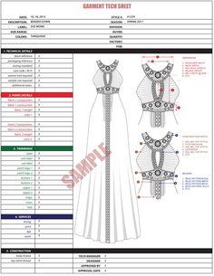 TECH PACKETS | FLATS | SPEC SHEETS by Poto Leifi, via Behance