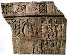 Dated to the 12th century from the city of Zadar, including scenes of the daily life and organization of the Croatian courts and assemblies. See the single headed eagle top left