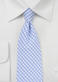 Micro Gingham Tie in Baby Blue, $15 | Cheap-Neckties.com