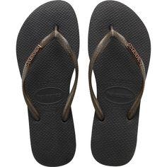 Havaianas Slim Logo Metallic Sandal Aubergine/Aubergine | Metallic sandals