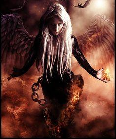 """ I AM FINALLY FALLEN"" says blonde fallen angel"