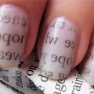 Simple and no nail art pens needed. Would be interesting to see if it would work with pictures?: