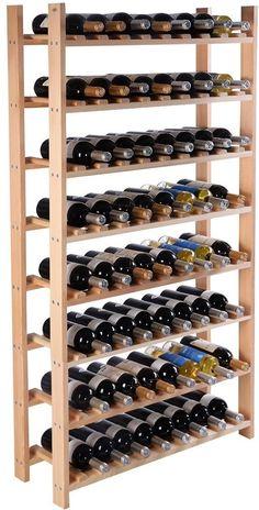 Wine Wood Rack 120 Bottle 6 Tier Storage Display Shelves Kitchen Natural Bar NEW #BottleWineWrack