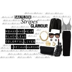 black and glamour .... by leaayt on Polyvore featuring Maglie I Blues, VILA, Kate Spade, Rebecca Minkoff, Demitasse and STELLA McCARTNEY