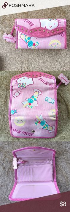 Sanrio Hello Kitty Wallet Sanrio. Lightly used. Room for lots of cards & checkbook. 🎀 Hello Kitty Bags Wallets