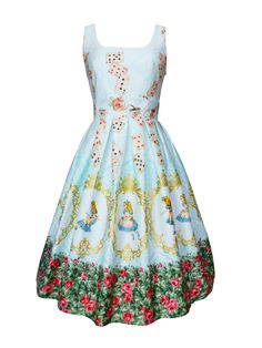 Alice in Wonderland couture dress