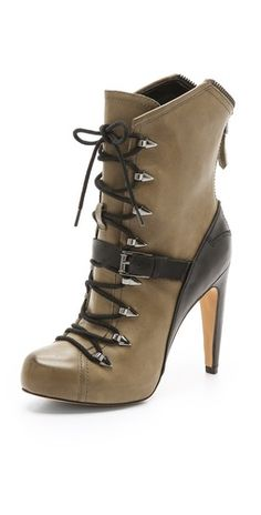 b368a8c3a1e3 Sam Edelman Knox Lace Up Booties - ShopStyle Boots