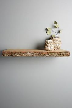 Anthropologie Live-Edge Wood Floating Shelf