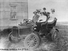 1906 White automobile, Calgary, Alberta.