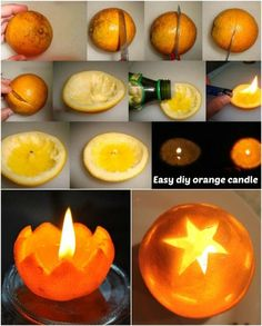 Make an orange candle.