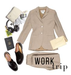 """Work Travel"" by adduncan ❤ liked on Polyvore featuring RAHUA, Chanel, Loeffler Randall, Royce Leather and WorkWear"