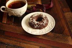 low carb donut, almond joy donut, gluten free donut, healthy donut